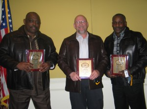 1 Million Mile Awardees - Jerry Harper, Robert Sieg, Tyrone Jordan